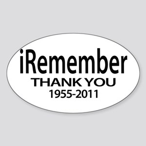 iThank you Sticker (Oval)