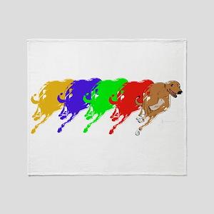 Running Greyhound Throw Blanket