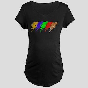 Running Greyhound Maternity Dark T-Shirt