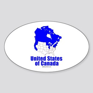 United States of Canada - Oval Sticker
