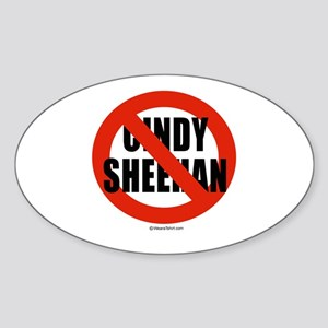 No Cindy Sheehan - Oval Sticker