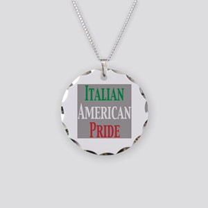 Italian American Pride Necklace Circle Charm