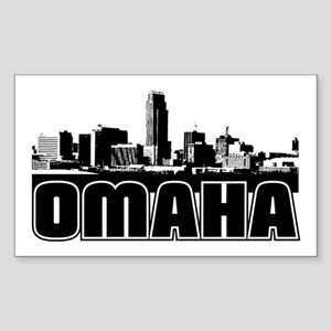 Omaha Skyline Sticker (Rectangle)