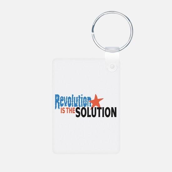 Revolutiion is the Solution Aluminum Photo Keychai