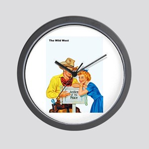 Wild West Justice of the Peace Wall Clock