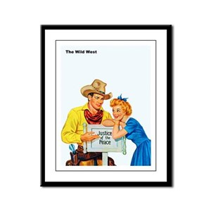 Wild West Justice of the Peace Framed Panel Print