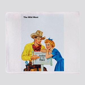 Wild West Justice of the Peace Throw Blanket
