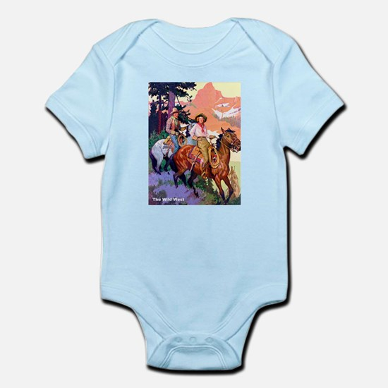 Wild West Mountain Country Ride Infant Bodysuit