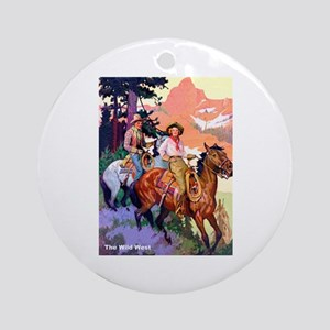 Wild West Mountain Country Ride Ornament (Round)