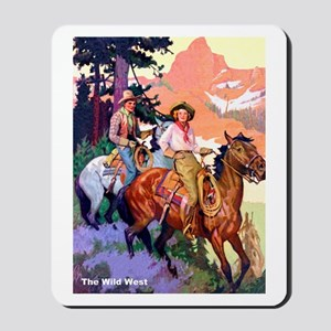 Wild West Mountain Country Ride Mousepad