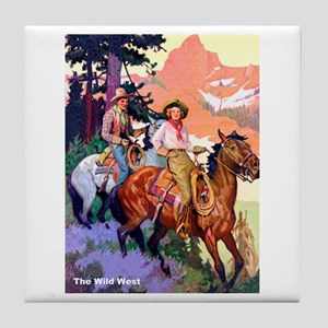 Wild West Mountain Country Ride Tile Coaster