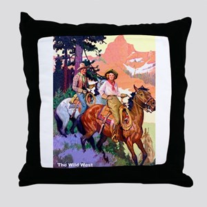 Wild West Mountain Country Ride Throw Pillow