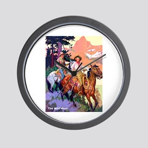 Wild West Mountain Country Ride Wall Clock