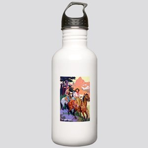 Wild West Mountain Country Ride Stainless Water Bo