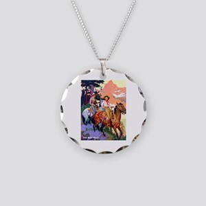 Wild West Mountain Country Ride Necklace Circle Ch