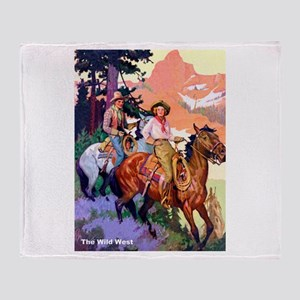 Wild West Mountain Country Ride Throw Blanket