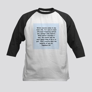 Napolean Hill quotes Kids Baseball Jersey