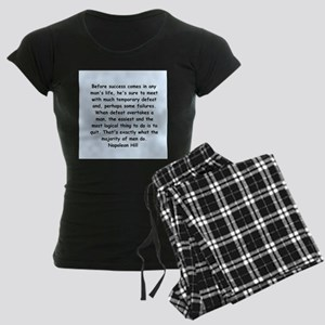 Napolean Hill quotes Women's Dark Pajamas