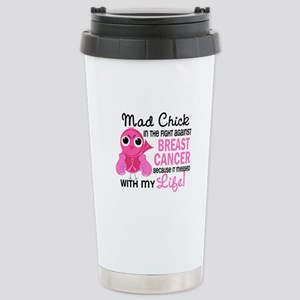 Mad Chick 2 Breast Cancer Stainless Steel Travel M