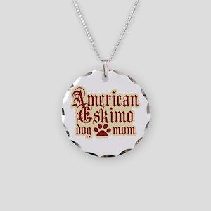 American Eskimo Mom Necklace Circle Charm