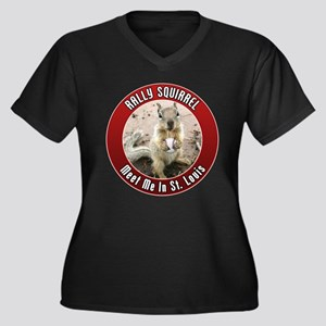Rally Squirrel - The St Louis Women's Plus Size V-