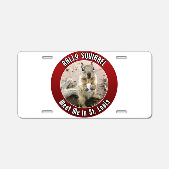 Rally Squirrel - The St Louis Aluminum License Pla