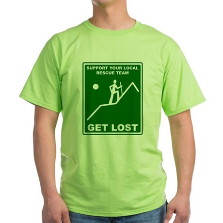 Get Lost (male character) Green T-Shirt