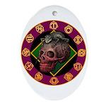 Lizard skull Ornament (Oval)
