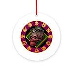 Lizard skull Ornament (Round)