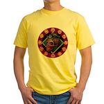 Lizard skull Yellow T-Shirt