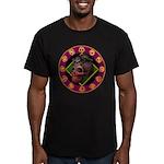 Lizard skull Men's Fitted T-Shirt (dark)