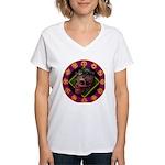 Lizard skull Women's V-Neck T-Shirt