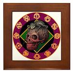 Lizard skull Framed Tile