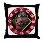 Lizard skull Throw Pillow