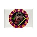 Lizard skull Rectangle Magnet