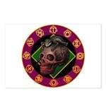 Lizard skull Postcards (Package of 8)
