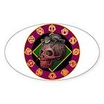 Lizard skull Sticker (Oval 10 pk)