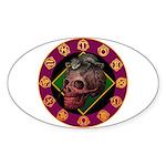 Lizard skull Sticker (Oval 50 pk)