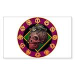 Lizard skull Sticker (Rectangle 50 pk)