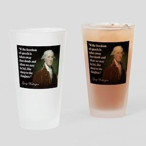 George Washington Freedom of Drinking Glass