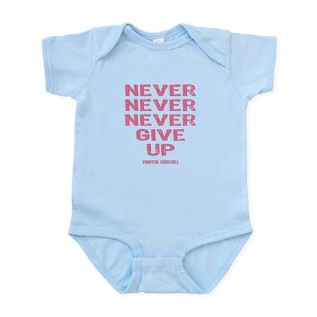 Breast Cancer Never Give Up Infant Bodysuit