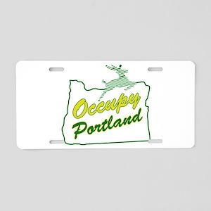 Occupy Portland Aluminum License Plate