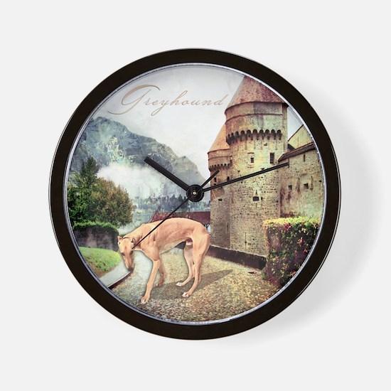 Castle Greyhound Wall Clock