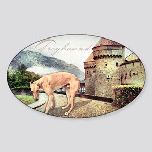 Castle Greyhound Sticker (Oval)