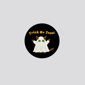 Halloween Ghost Cat Mini Button