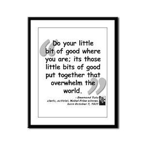 Tutu Good Quote Framed Panel Print