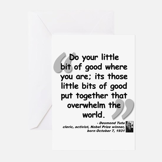 Tutu Good Quote Greeting Cards (Pk of 20)