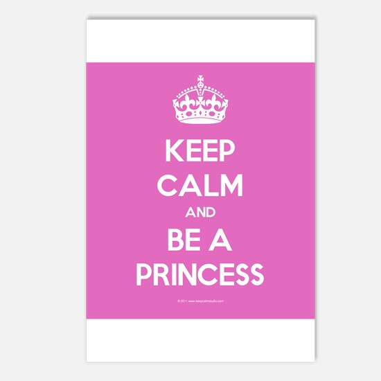Keep Calm and Be A Princess Postcards (Package of