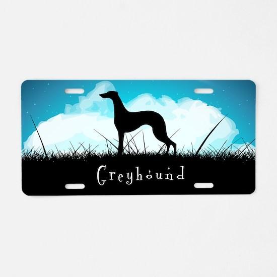 Nightsky Greyhound Aluminum License Plate