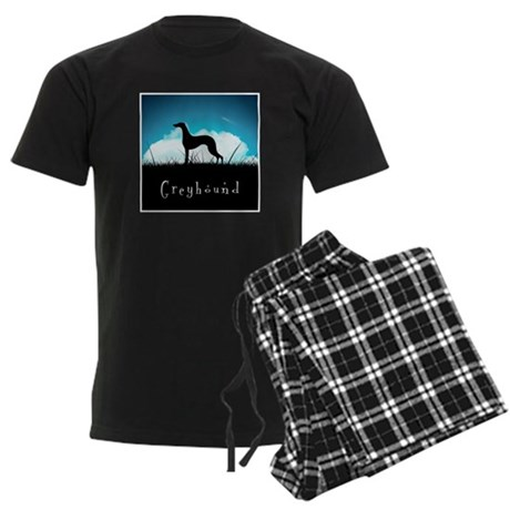 Nightsky Greyhound Men's Dark Pajamas